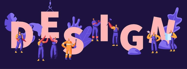 Ilustración plana de dibujos animados de concepto de diseño