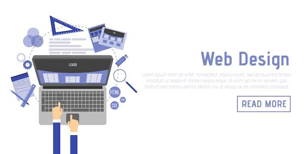 Ilustración plana de diseño web y conceptos de desarrollo. elementos para aplicaciones móviles y web.