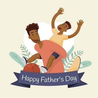 Ilustración plana feliz del día del padre