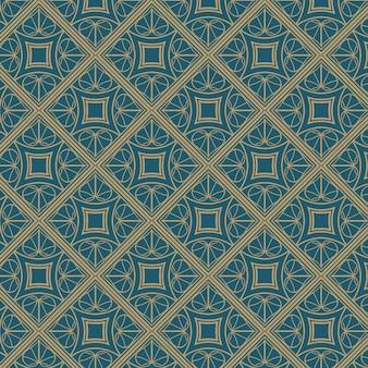 Ilustración plana del patrón art deco