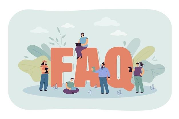 Ilustración plana de preguntas frecuentes