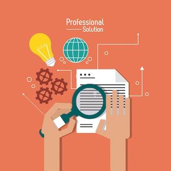 Ilustración plana sobre servicio al cliente