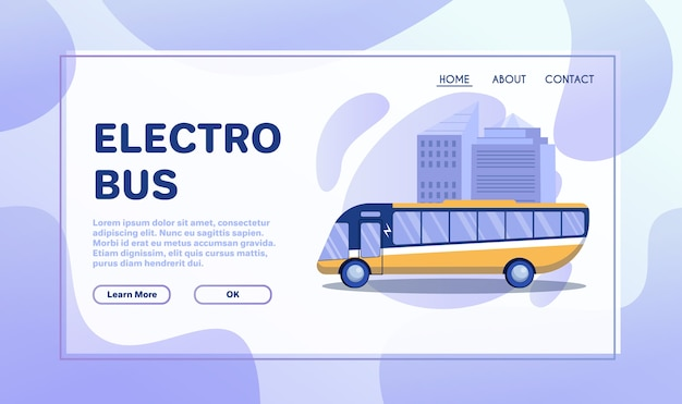 Ilustración plana de transporte de la ciudad