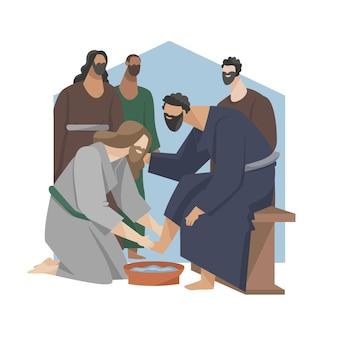 Ilustración plana de viernes santo