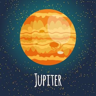 Ilustración planeta júpiter