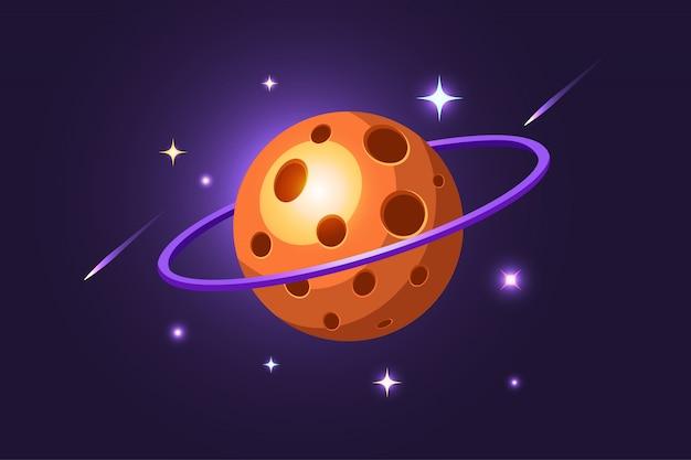 Ilustración de planeta de queso