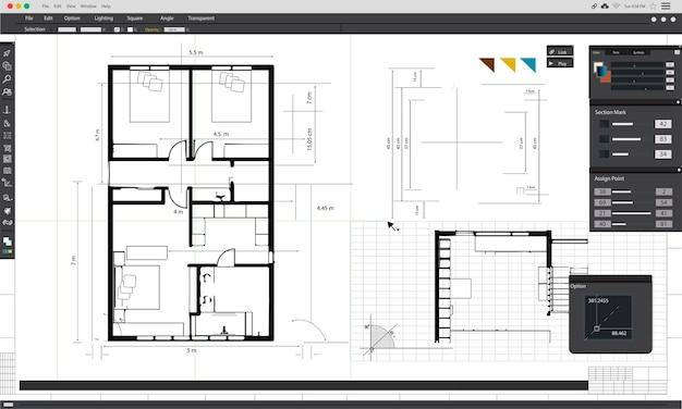 Ilustración de la planificación de la casa