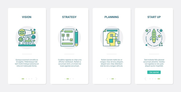 Ilustración de planificación de inicio de estrategia de visión