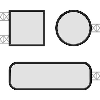 Ilustración de plantilla de caja de luz sobre fondo blanco