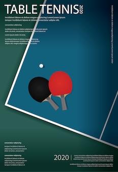 Ilustración de plantilla de cartel de ping-pong