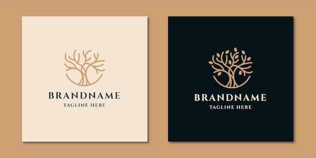 Ilustración de plantilla de diseño de icono de logotipo de vida de árbol