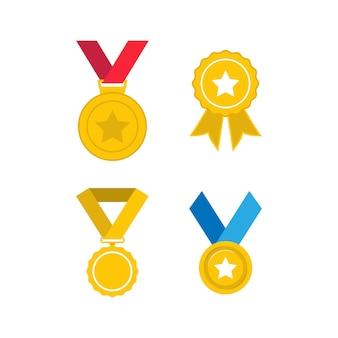 Ilustración de plantilla de diseño de icono de medalla