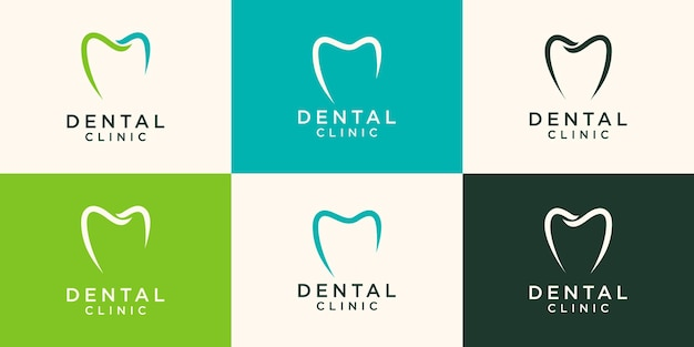 Ilustración de plantilla de diseño de logotipo dental simple