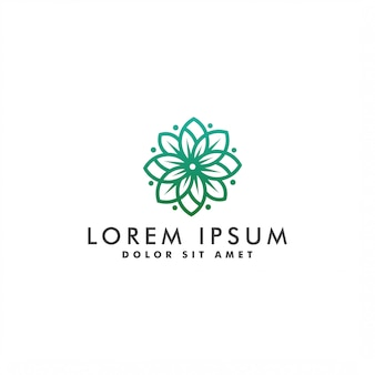 Ilustración de plantilla de diseño de logotipo de flor abstracta de naturaleza
