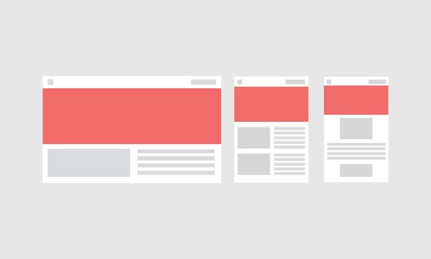 Ilustración de la plantilla de diseño web