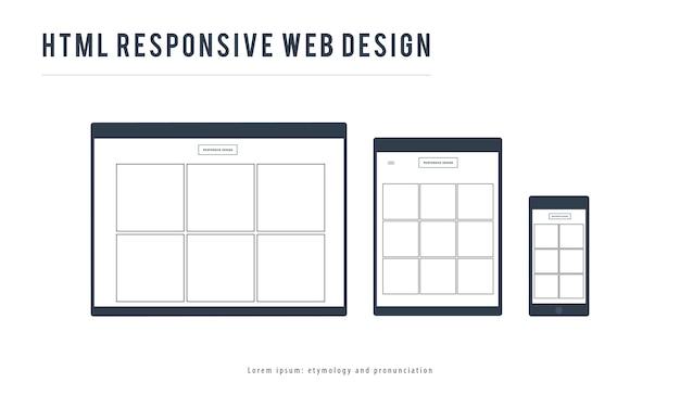 Ilustración de plantilla de diseño web
