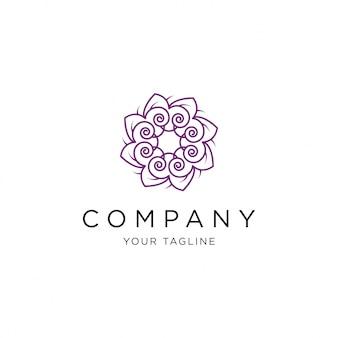Ilustración de plantilla de flor logo vector icono