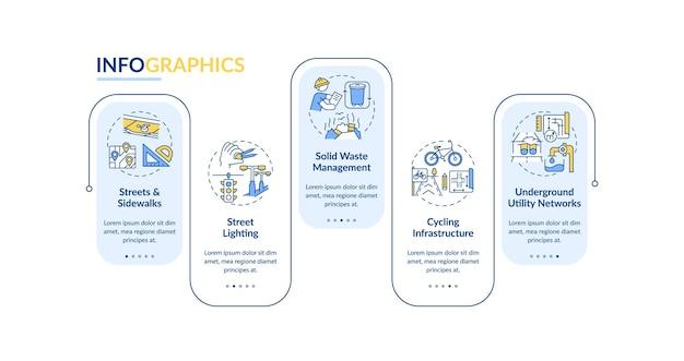 Ilustración de plantilla de infografía de construcción urbana