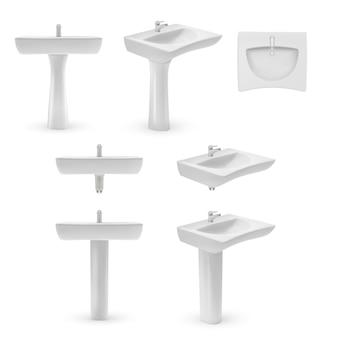 Ilustración de plantilla de lavabo