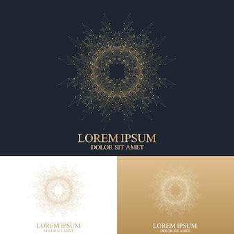 Ilustración de plantilla de logotipo abstracto geométrico