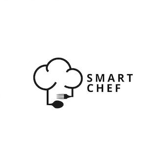 La ilustración de plantilla de logotipo de chef