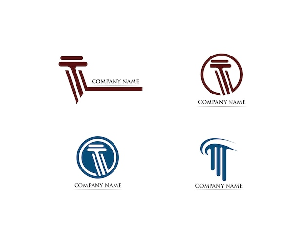 Ilustración de plantilla de logotipo de columna