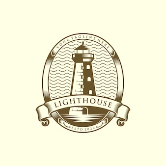 Ilustración de plantilla de logotipo de faro