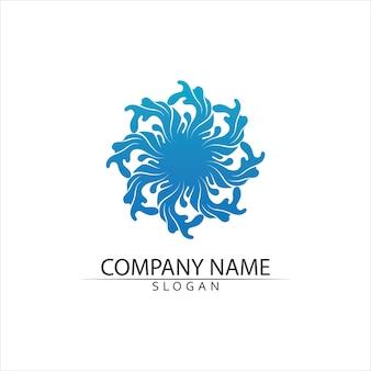 Ilustración de plantilla de logotipo de gota de agua