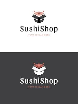 Ilustración de plantilla de logotipo de restaurante de sushi