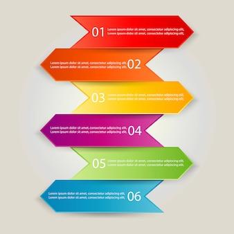 Ilustración de plantilla de negocio de infografía
