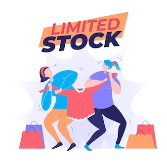 Ilustración de plantilla de stock limitado