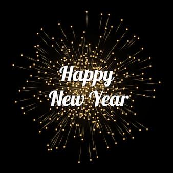 Ilustración de la plantilla de tarjeta de celebración de año nuevo