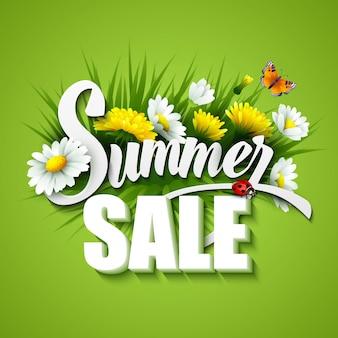 Ilustración de plantilla de venta de verano y primavera