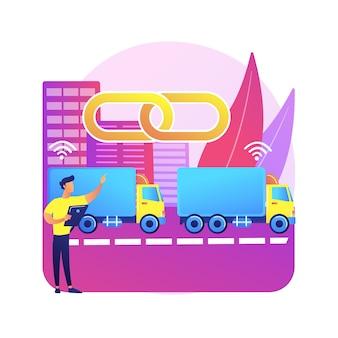 Ilustración de platooning de camiones