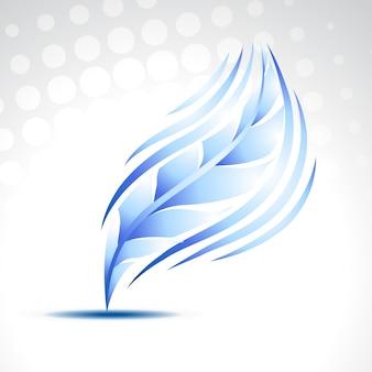 Ilustración de pluma azul