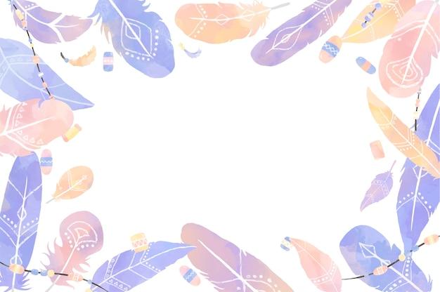 Ilustración de plumas