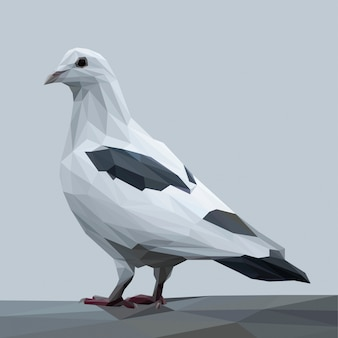 Ilustración poligonal de la paloma