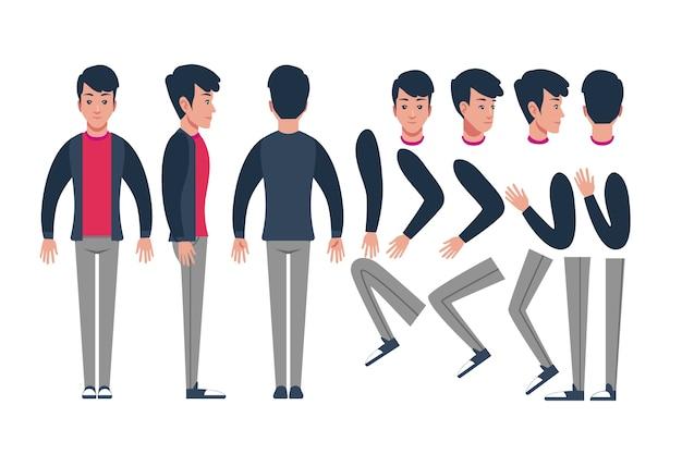 Ilustración de poses de personaje