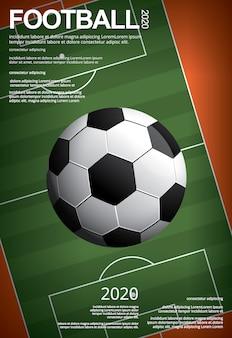 Ilustración de póster de fútbol soccer