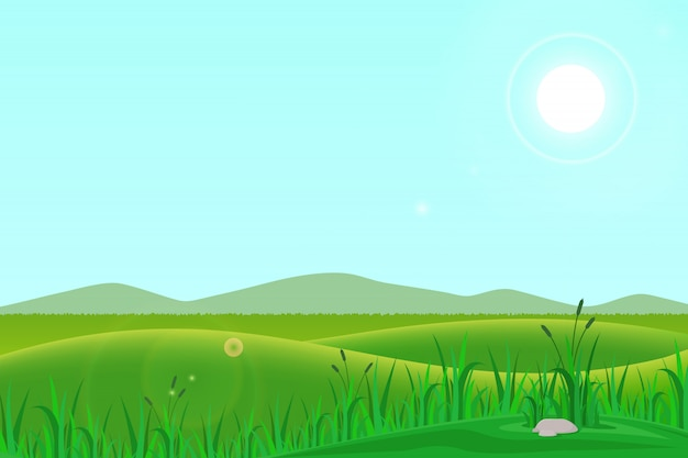 Ilustración de pradera