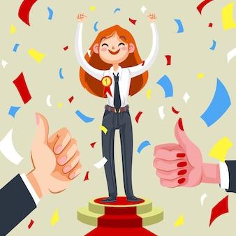 Ilustración del premio al empleado del mes