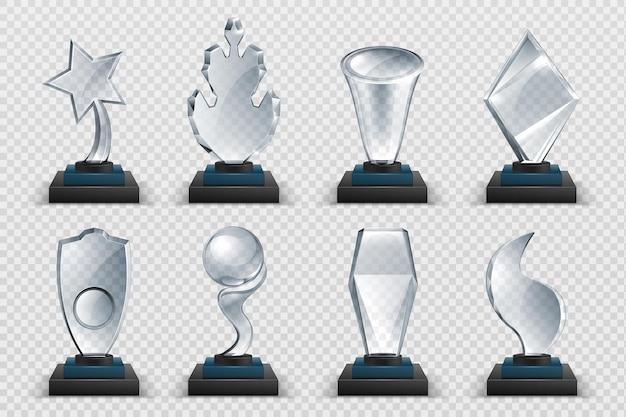 Ilustración de premios de vidrio