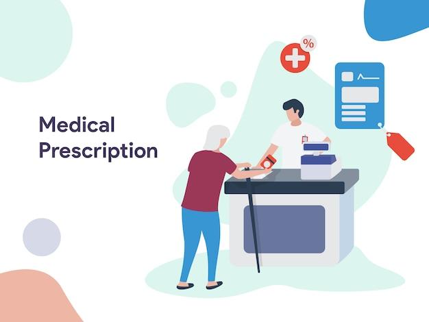 Ilustración de prescripción médica