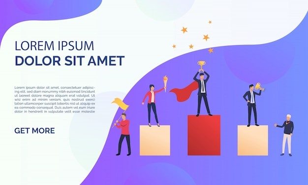 Ilustración de presentación de negocios púrpura