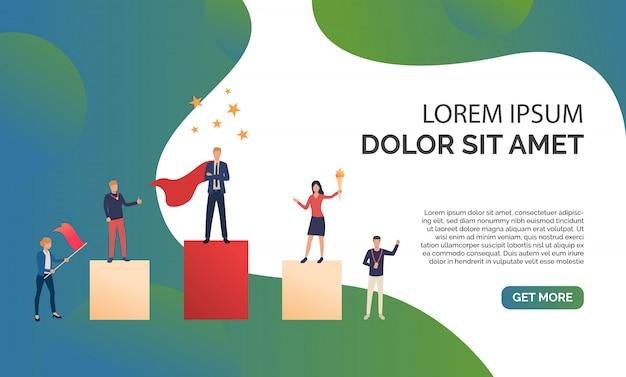 Ilustración de presentación de negocios verde