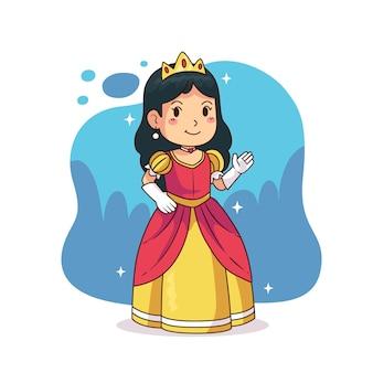 Ilustración con princesa cenicienta