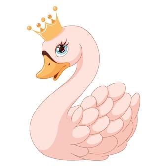 Ilustración de princesa cisne aislada