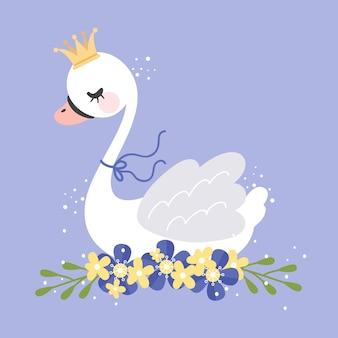 Ilustración de princesa cisne