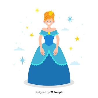 Ilustración princesa dibujada a mano