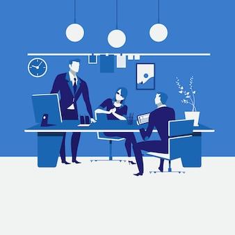 Ilustración de programación de trabajo